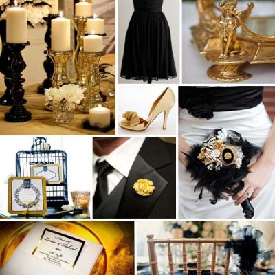 Your Wedding in Colors: Black and Gold