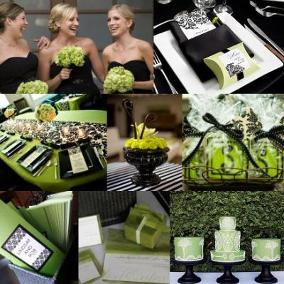 Your Wedding in Colors: Green and Black