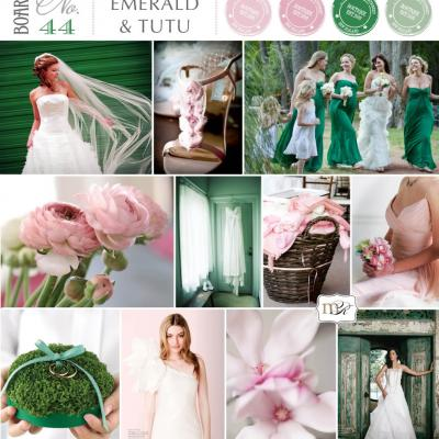 Your Wedding in Colors: Emerald and Rose Pink