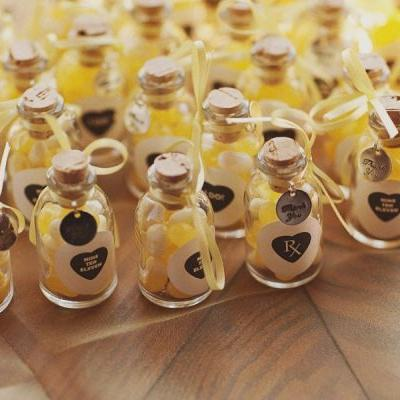 Wedding Favors in Bottles