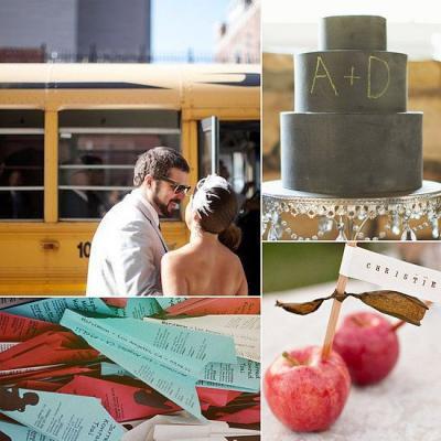 A School Themed Wedding