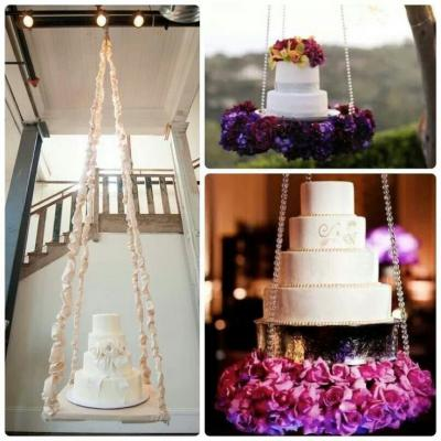 Wedding Cake Idea: Gravity-Defying Wedding Cakes