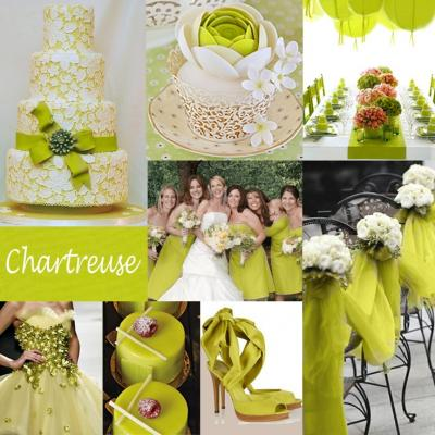 """Your Wedding in Colors: Hot 2015 Wedding Trend """"Chartreuse"""""""