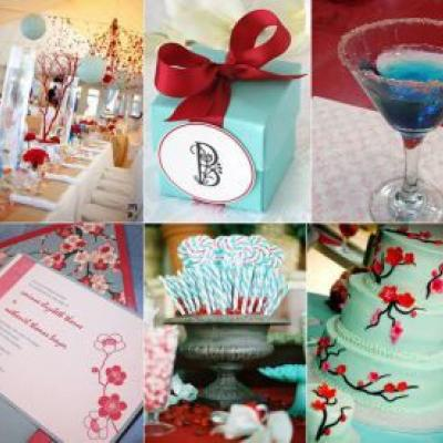 Your Wedding in Colors: Cranberry and Aqua