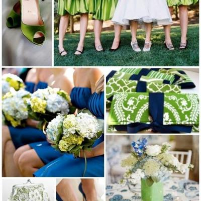 Your Wedding in Colors: Navy Blue and Green