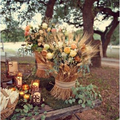 A Beautiful Rustic Chic Wedding Theme