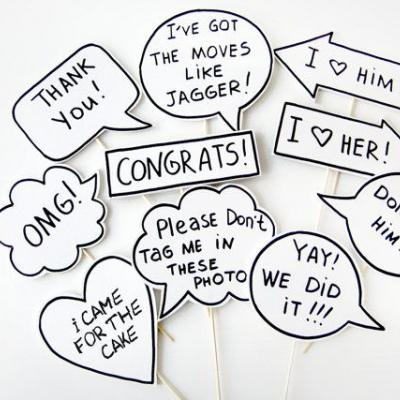 Wedding Photo Props We Love for Unique Wedding Pictures