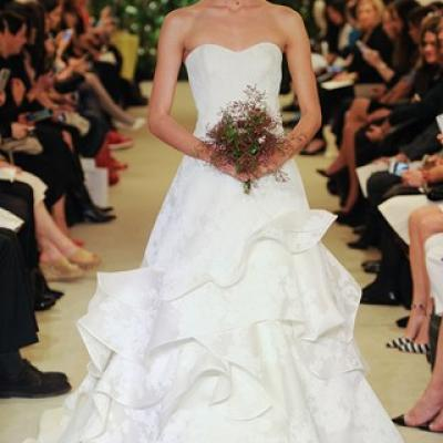 Carolina Herrera's Bridal Collection for Spring 2016 at The New York Bridal Market 2015