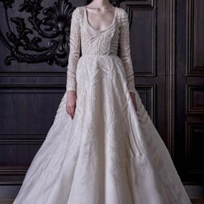 Monique Lhuillier's Spring 2016 Bridal Collection at New York Bridal Market 2015