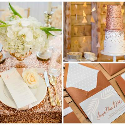Your Wedding in Color: Cream and Copper