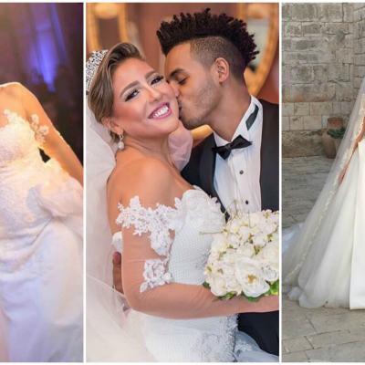 أجمل 7 إطلالات لفنانات ومشاهير عرب في حفلات زفافهن
