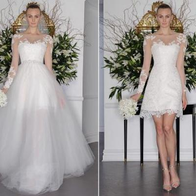 Bridal Fashion Trend: Detachable Skirts