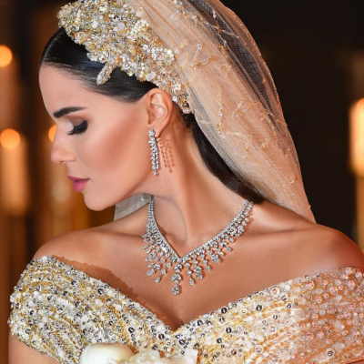 Stunning Bridal Veils Worn By Arab Celebrities