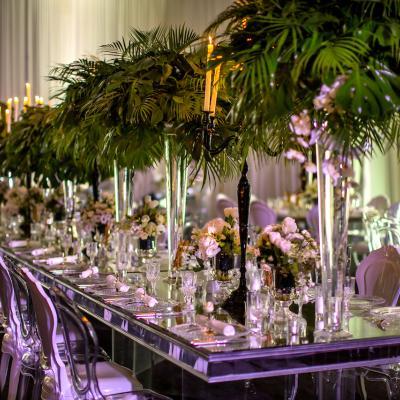 حفل زفاف فاخر مستوحىً من الطبيعة من تنظيم احساس الحدث للأفراح والمناسبات
