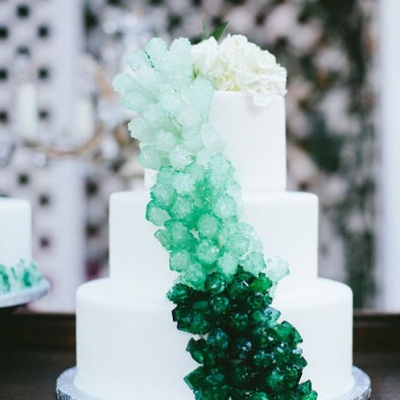Beautiful Green Wedding Cakes for 2017