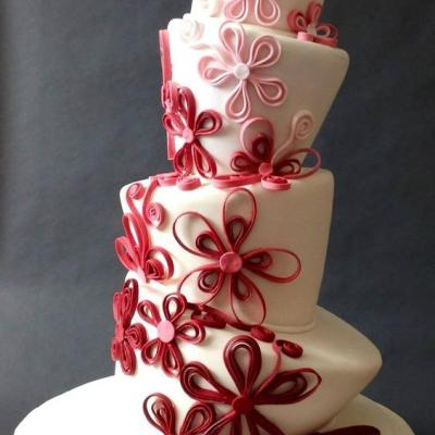 Fun Topsy Turvy Wedding Cakes