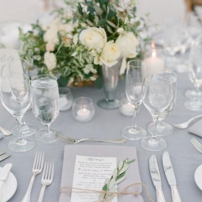 A Delicate Dove Grey Wedding Theme