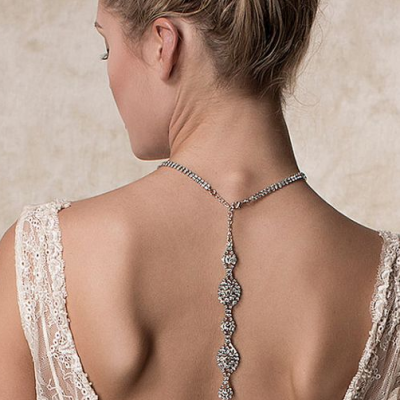 5 Beautiful Wedding Necklaces For The Back