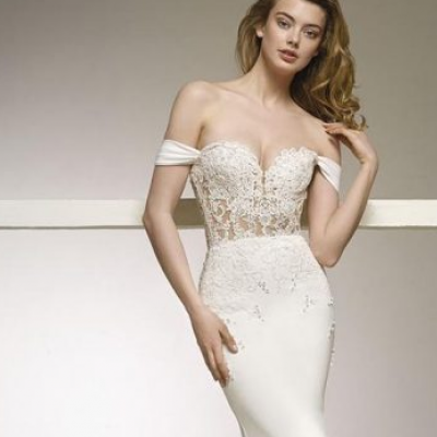 Off The Shoulder Wedding Dresses from Pronovias 2018 Collection