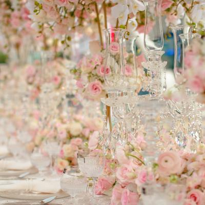Beautiful Table Flower Runners by Bianca Event Styling