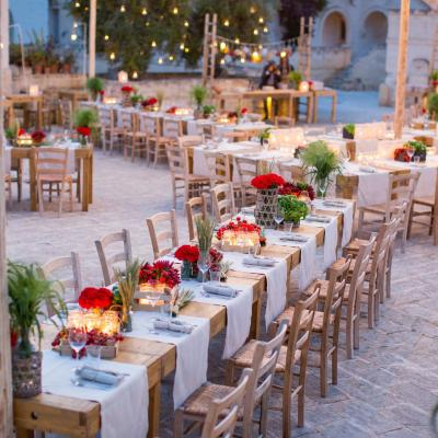 Jordanian Wedding Planner Organises Pre Wedding  'Apulian' Welcome Dinner in Italy