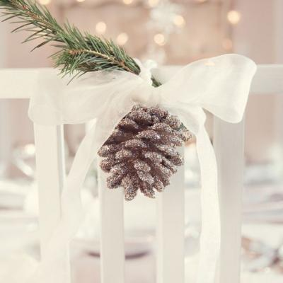 6 Winter Wedding Chair Decorations You'll Love
