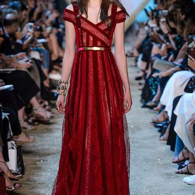 2018 Red Engagement Dresses by Arab Fashion Designers