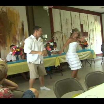 Embedded thumbnail for Couple Do Funny Dance at Wedding