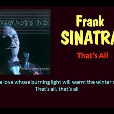 Embedded thumbnail for Frank Sinatra - That's All