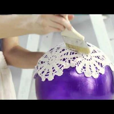 Embedded thumbnail for DIY Doily Lantern