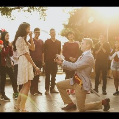 Embedded thumbnail for Surprise Acapella Musical Proposal at Disneyland