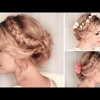 Embedded thumbnail for Braided Bridal Updo
