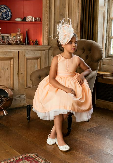Flower Girl Dresses with Matching Headwear by Michelle Bray