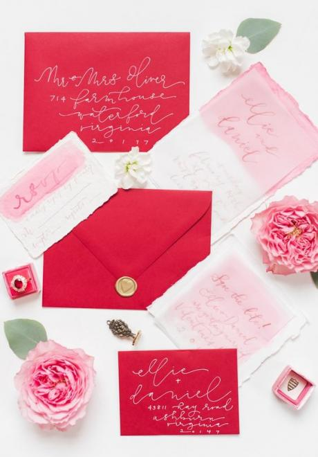 10 Valentine's Day Inspired Wedding Invitations