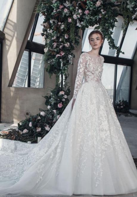 2019 Long Sleeve Wedding Dress 12