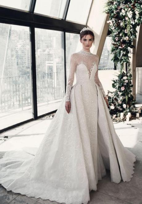 2019 Long Sleeve Wedding Dress 5