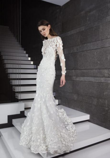 2019 Long Sleeve Wedding Dress 7