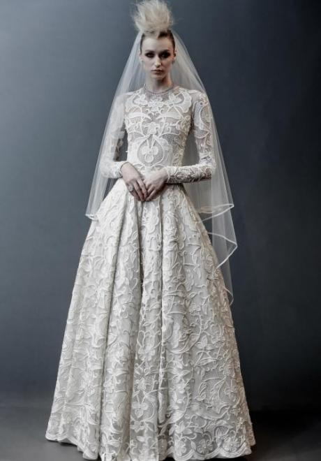 2019 Long Sleeve Wedding Dress 9