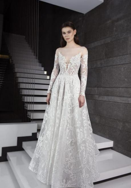 2019 Long Sleeve Wedding Dress 11