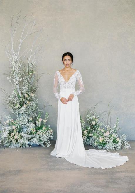 2019 Long Sleeve Wedding Dress 13