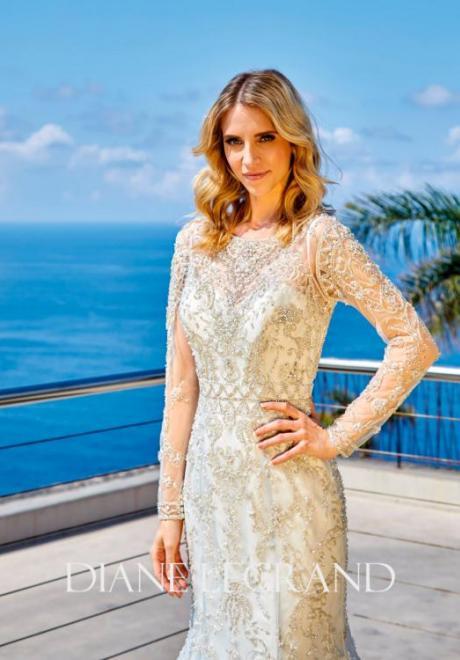 2019 Long Sleeve Wedding Dress 14