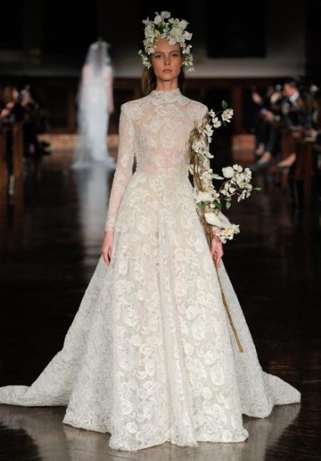 2019 Long Sleeve Wedding Dress