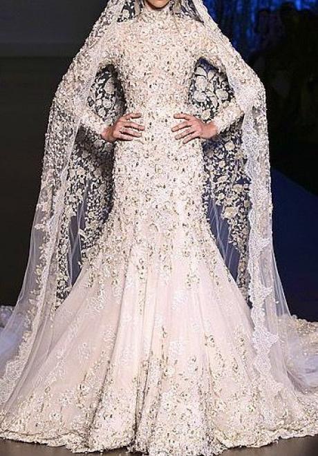 Beautiful Mermaid Modest Wedding Dresses
