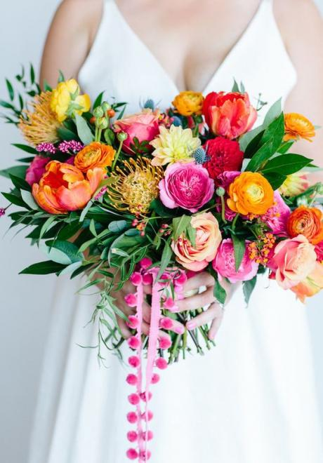Bright and Colorful Wedding Bouquets For Summer