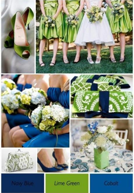Navy Blue and Green Wedding 5