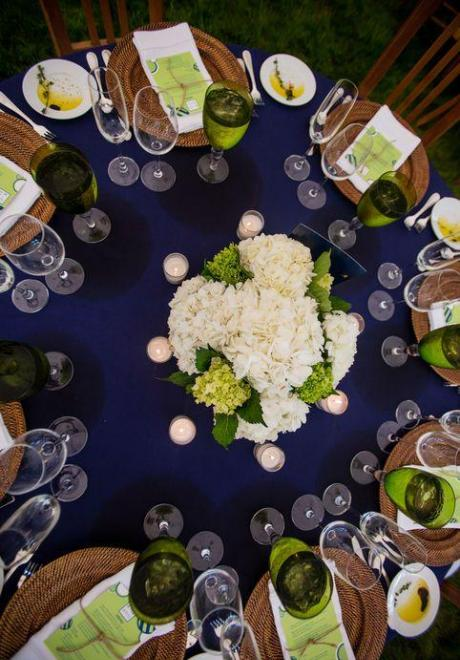 Navy Blue and Green Wedding 1