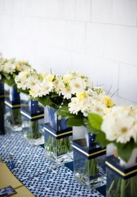 Navy Blue and Green Wedding 2