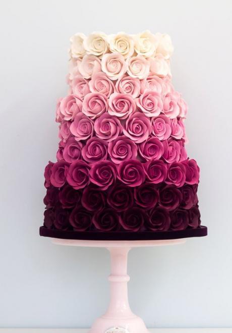 Pink Wedding Cake 1