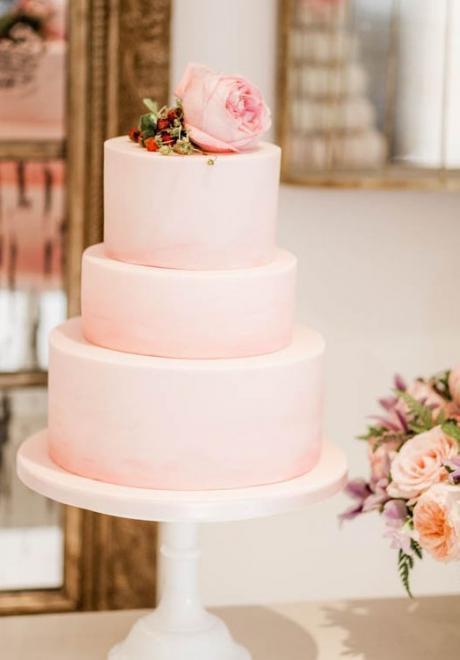 Pink Wedding Cake 3