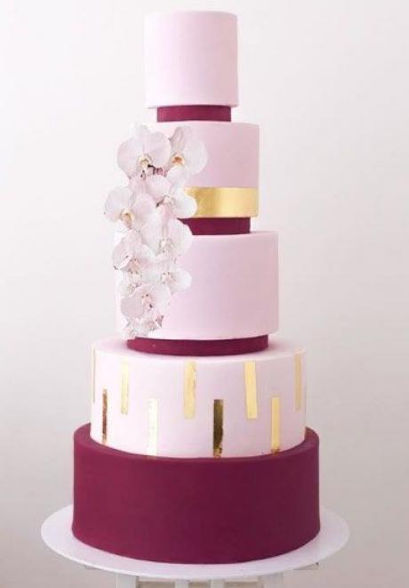 Pink Wedding Cake 6